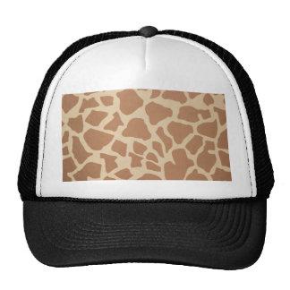 Estampados de girafa gorro