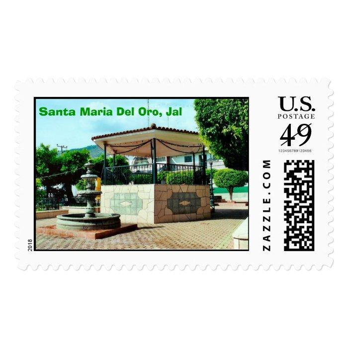 Estampilla Del Kiosko De Sta. Maria Del Oro Stamp