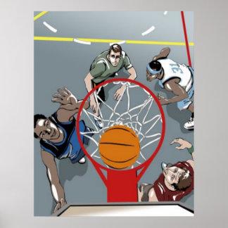 Están jugando al baloncesto - poster