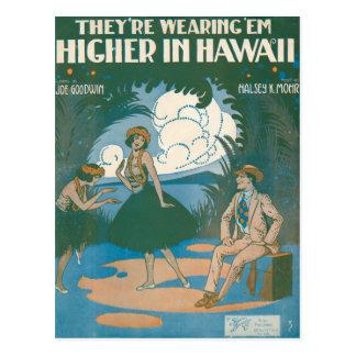 Están llevando el Em del ` más arriba en Hawaii Postales