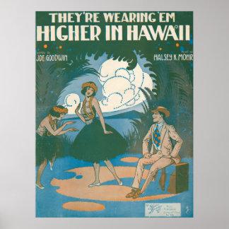 Están llevando el Em del ` más arriba en Hawaii Póster