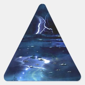 están viniendo pegatina triangular