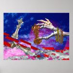Estancamiento jugado por las manos muertas poster