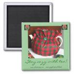 Estancia acogedora con el imán del navidad del té