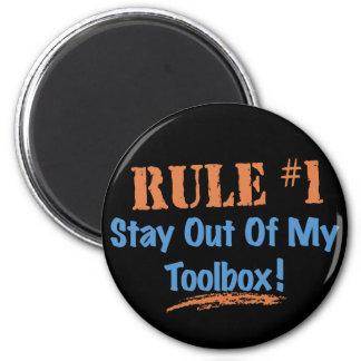 Estancia de la regla 1 fuera de mi caja de herram iman de nevera