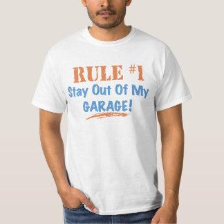 Estancia de la regla #1 fuera de mi garaje playeras