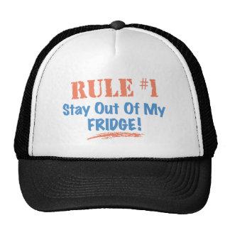 Estancia de la regla #1 fuera de mi refrigerador gorras de camionero