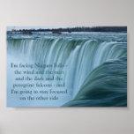 Estancia de Niagara Falls enfocada Posters