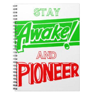 Estancia despierta y pionera spiral notebooks