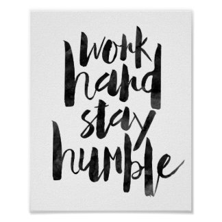 Estancia dura del trabajo humilde póster
