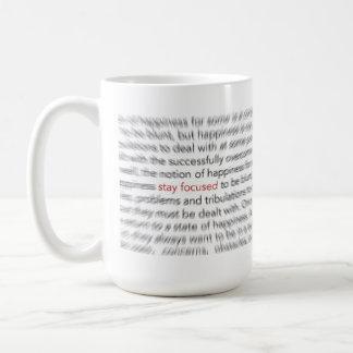 Estancia enfocada - vida 8D Taza De Café