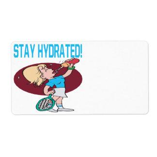 Estancia hidratada etiqueta de envío