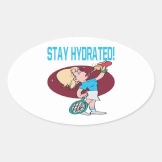 Estancia hidratada pegatina de óval personalizadas