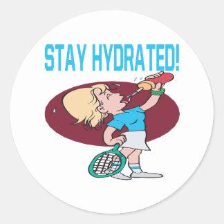 Estancia hidratada pegatinas redondas