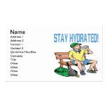 Estancia hidratada plantilla de tarjeta de visita