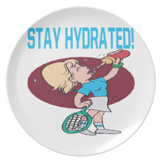 Estancia hidratada platos de comidas