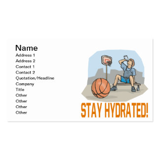Estancia hidratada tarjetas de visita