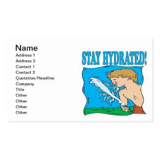 Estancia hidratada tarjeta de visita
