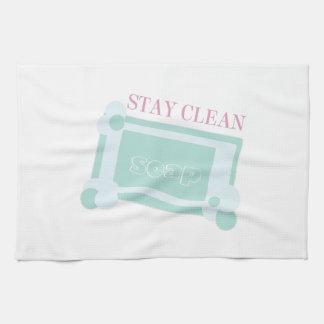 Estancia limpia toalla
