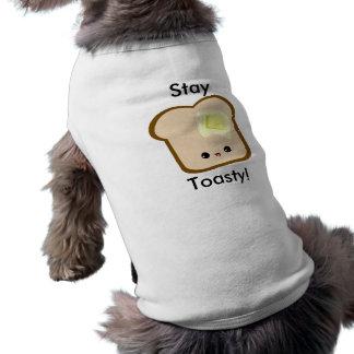 ¡Estancia linda del kawaii Toasty! mascota de la t Playera Sin Mangas Para Perro