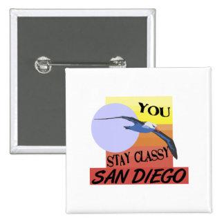 Estancia San Diego con clase Pin Cuadrada 5 Cm