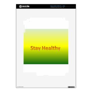estancia sana iPad 2 calcomanía