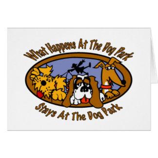 Estancias @ el parque del perro tarjeta de felicitación