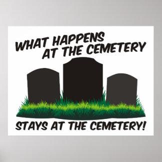 Estancias en el cementerio impresiones