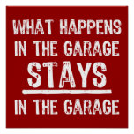 Estancias en el poster del garaje
