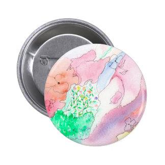 """Estándar 2 1/4"""" botón redondo con diseño pin redondo de 2 pulgadas"""