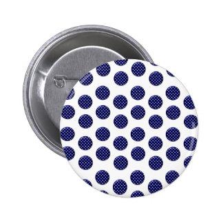 Estándar azul del punto, botón redondo de la pin redondo de 2 pulgadas
