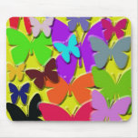 Estándar colorido Mousepad de las mariposas Tapetes De Ratón