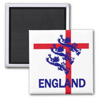 Estándar de Inglaterra y cruz reales de San Jorge Imán Cuadrado