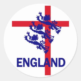 Estándar de Inglaterra y cruz reales de San Jorge Pegatinas Redondas