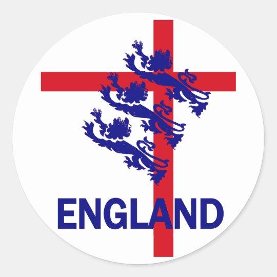Estándar de Inglaterra y cruz reales de San Jorge Pegatina Redonda