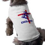 Estándar de Inglaterra y cruz reales de San Jorge Camiseta De Perrito