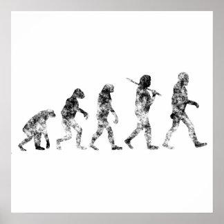 Estándar de la evolución - nubes póster