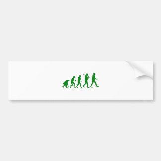 Estándar de la evolución - verde pegatina de parachoque