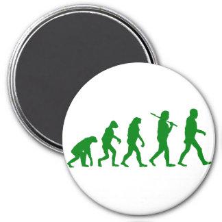 Estándar de la evolución - verde imán para frigorifico
