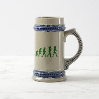 Estándar de la evolución - verde jarra de cerveza