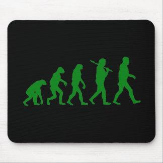 Estándar de la evolución - verde mousepads