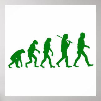 Estándar de la evolución - verde poster