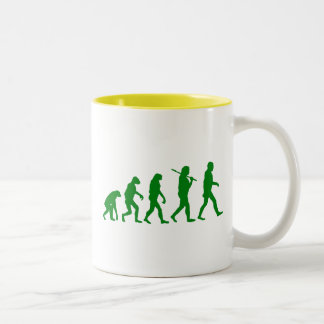 Estándar de la evolución - verde taza de café