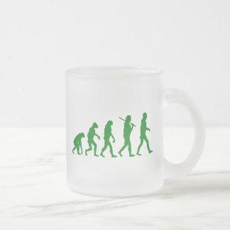 Estándar de la evolución - verde taza de cristal