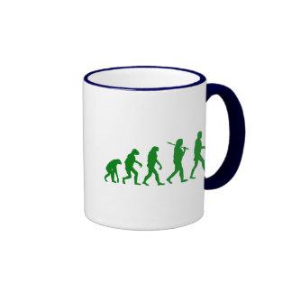 Estándar de la evolución - verde taza de dos colores