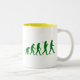 Estándar de la evolución - verde taza de dos tonos