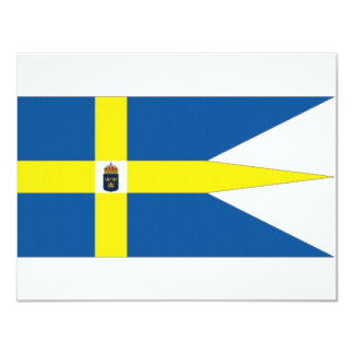 """Estándar de la familia real de Suecia Invitación 4.25"""" X 5.5"""""""