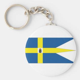 Estándar de la familia real de Suecia Llavero Redondo Tipo Pin