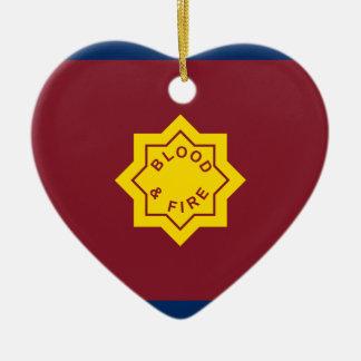 Estándar del Ejército de Salvamento, bandera Adorno Navideño De Cerámica En Forma De Corazón