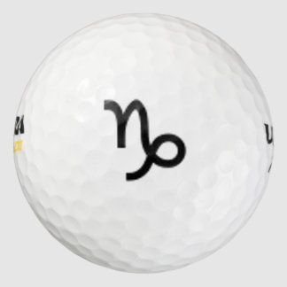 Estándar del símbolo del zodiaco del Capricornio Pack De Pelotas De Golf